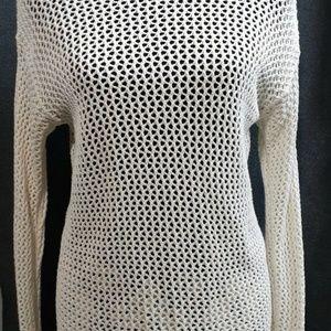 MICHAEL KORS Crochet Knit Sweater